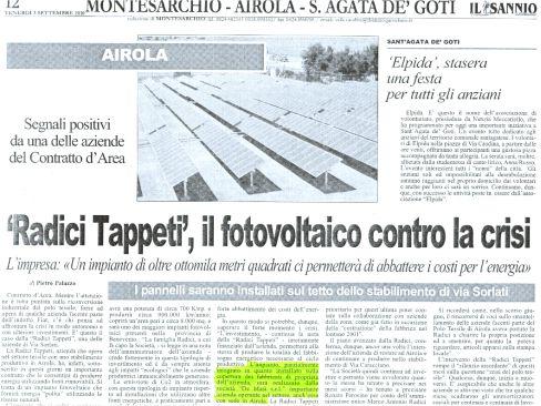 "Avvio Lavori ""Radici Tappeti"""